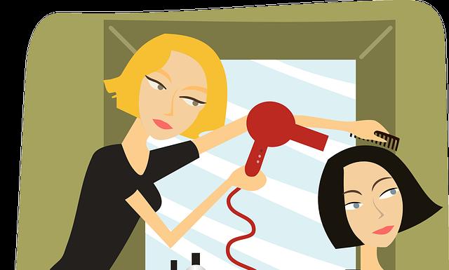 fryzjerka z klientem